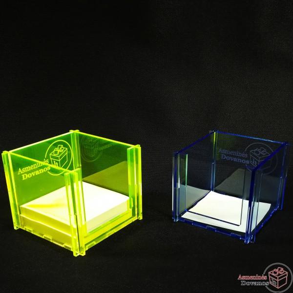 Dėžutė lipniems lapukams iš akrilo