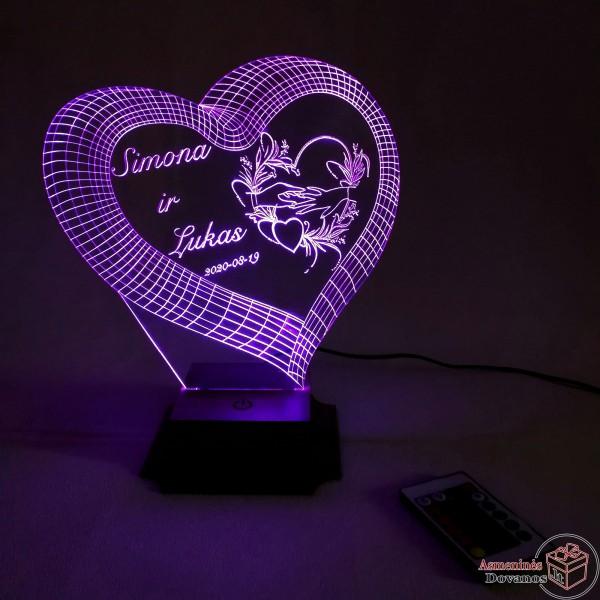 LED Lempa vestuvių proga