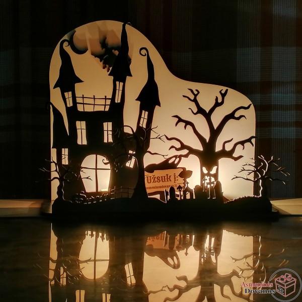 """Dekoracija - žvakidė helovinui """"Drakula"""""""