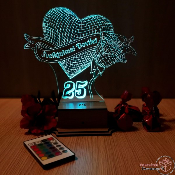 LED Lempa gimtadienio proga
