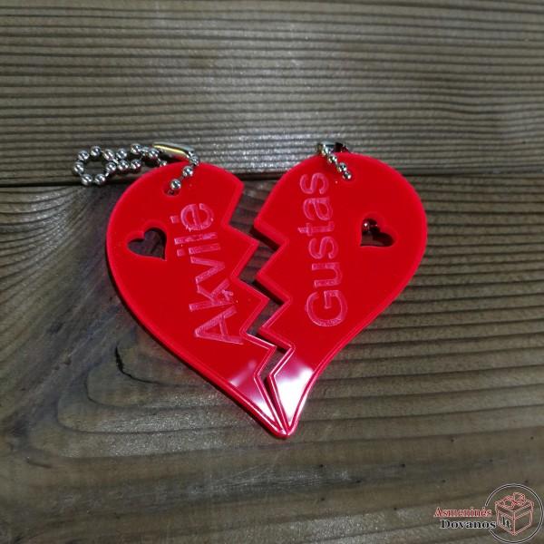 Pakabukas - širdelė dviems