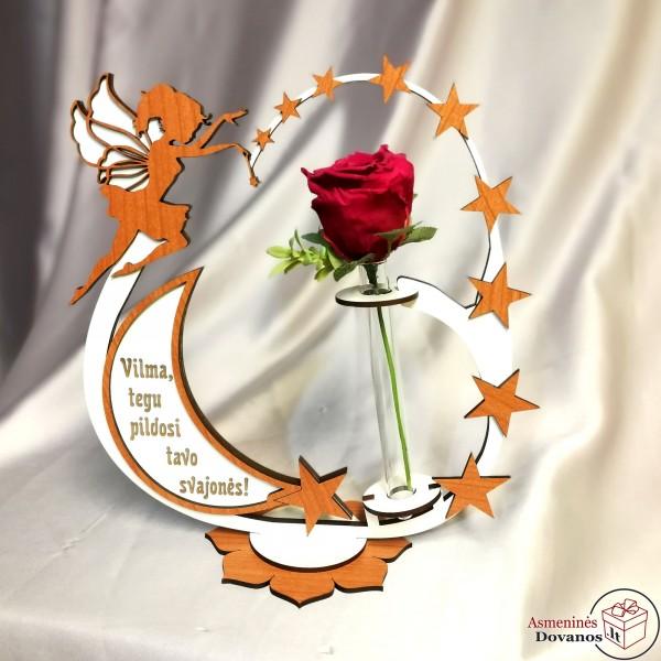 "Gėlės vazono dekoracija ""Fėja"""
