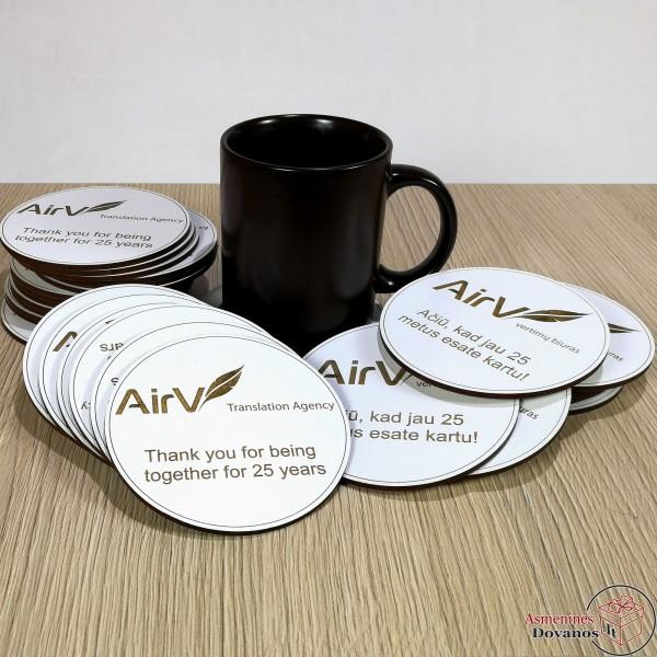 Padėkliukai puodeliui (su logotipu)