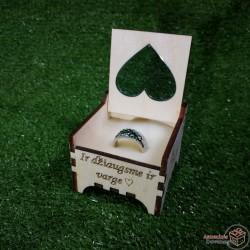 """Dėžutė žiedui """"Širdelė"""""""