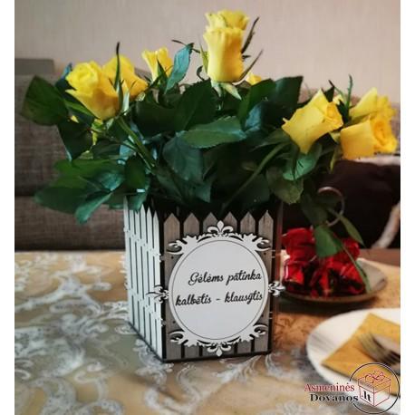 "Gėlės vazono dekoracija - ""Tvora"""