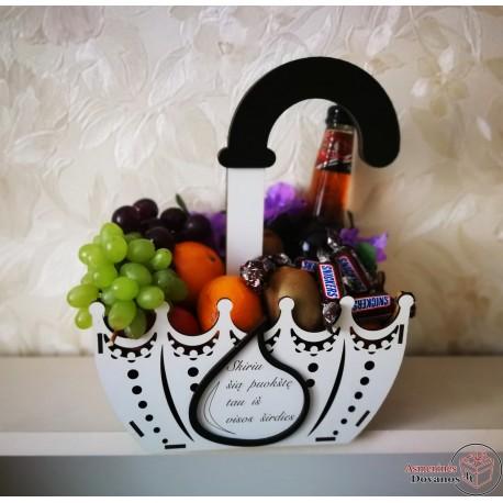 Skėtis - krepšelis dovanoms, gėlėms dovanoti