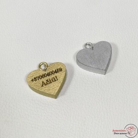 Pakabukas - širdelė dažyta