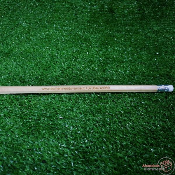 Graviruotas medinis pieštukas